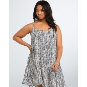 Torrid feather print sundress